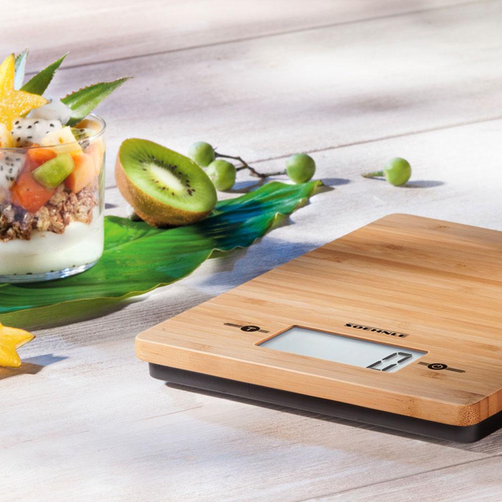 Keukenweegschaal-bamboe