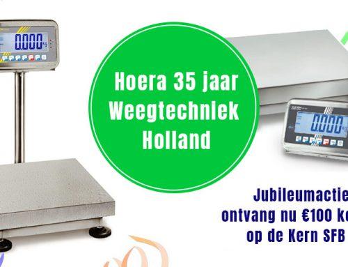 Weegtechniek 35 jaar – jubileumactie €100 korting Kern SFB