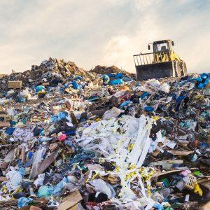 Weegschaal-afvalverwerking