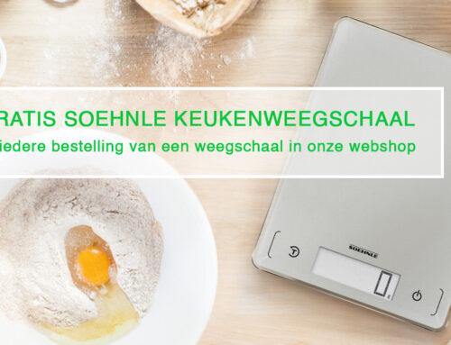 Actie: gratis Soehnle keukenweegschaal bij iedere bestelling van een weegschaal in onze webshop